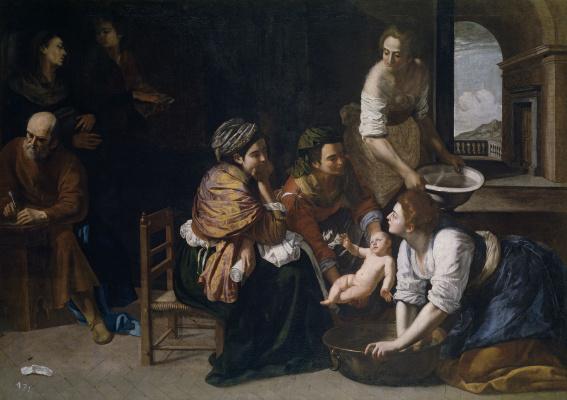Артемизия Джентилески. Рождение Иоанна Крестителя