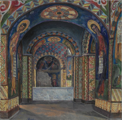 Oleg Mikhailovich Litvinenko. The entrance of the choir of the Cyril Church in Kiev
