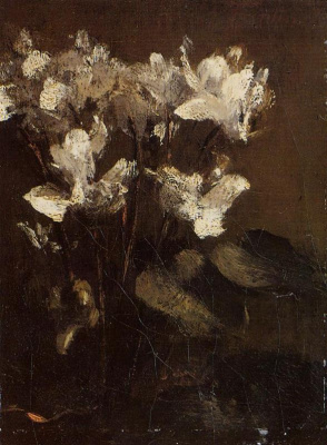 Henri Fantin-Latour. Flowers cyclamen