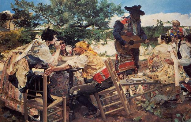 Хоакин Соролья (Соройя). Сцена в Валенсии