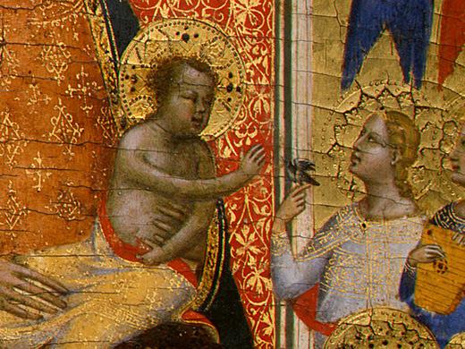 Бернардо Дадди. Мадонна с младенцем и ангелами (фрагмент)