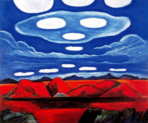 Marsden Hartley. Blue cloud