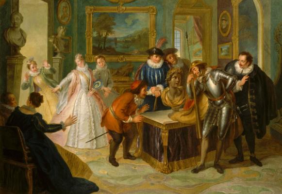 Charles-Antoine Coypel. Don Quixote in the house of don Antonio Moreno