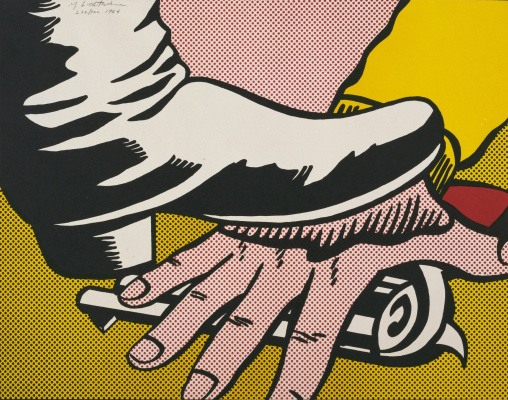 Roy Lichtenstein. Leg and arm