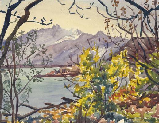 Giovanni Giacometti. Lake Maggiore