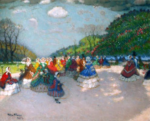 Petr Alexandrovich Nilus (Slovetsky). A walk in the spring park