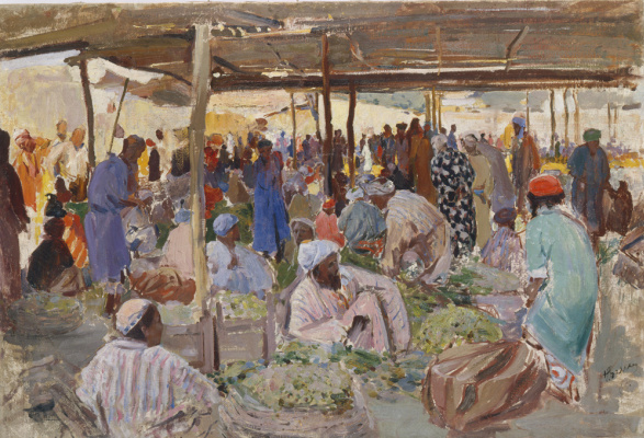 Pavel Petrovich Benkov. Grape Bazaar