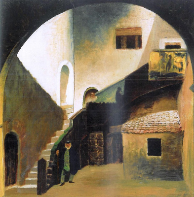 Tivadar Kostka Chontvari. Italian Fisherman (Courtyard of the Palazzo Corvaia in Taormina)