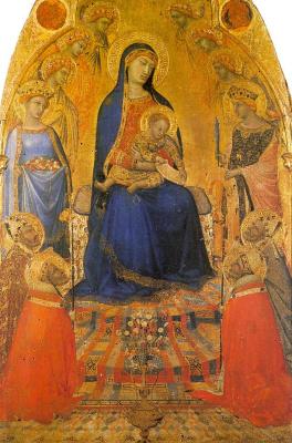 Амброджо Лоренцетти. Дева на троне