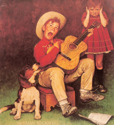 Norman Rockwell. Musician