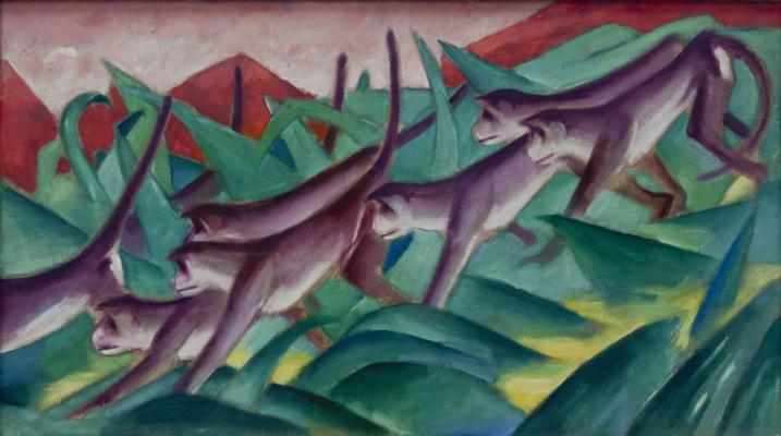 Franz Marc. Frozen monkeys