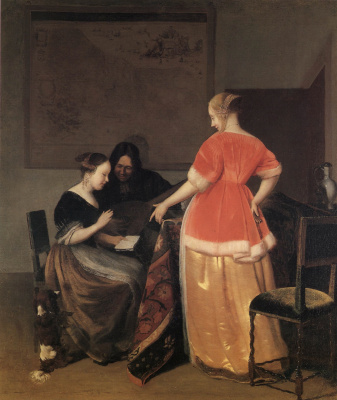 Jacob Lucas Ochterwelt. Music lesson