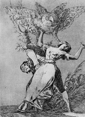 """Francisco Goya. """"Do we have no one to unleash?"""" (Series """"Caprichos"""", page 75)"""