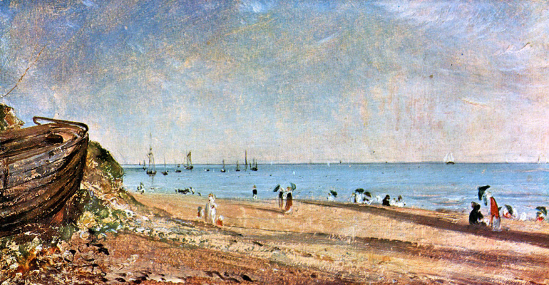 John Constable. The coast in Brighton, Sussex
