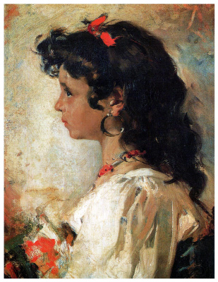 Joaquin Sorolla (Soroya). Italian girl