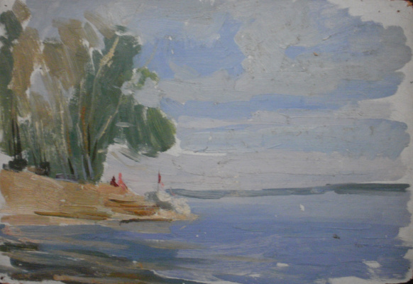 Nina Vasilievna Sedova. On the Kubensky lake
