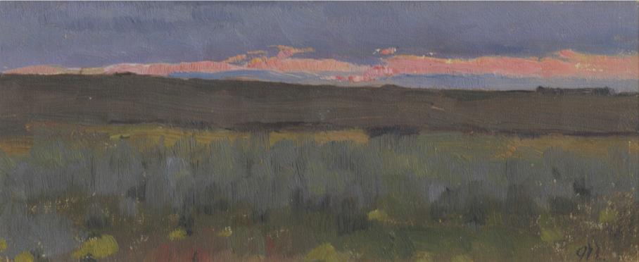 Eugene Iosifovich Bukovetsky. Evening landscape