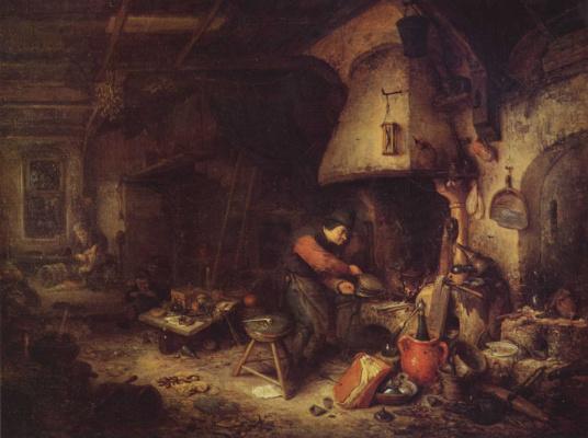 Адриан ван Остаде. Алхимик