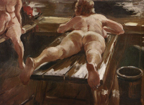 Alexander Mikhailovich Gerasimov. Rustic bath