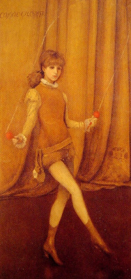 James Abbot McNeill Whistler. Harmony in yellow and gold: the gold girl Connie Gilchrist