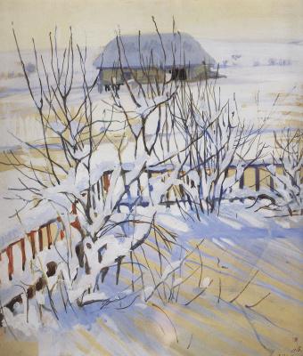Zinaida Evgenievna Serebriakova. Winter landscape
