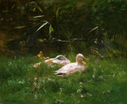Willem Maris. Duck