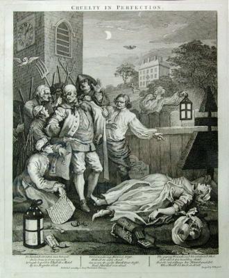 William Hogarth. Four degrees of cruelty. Perfect cruelty