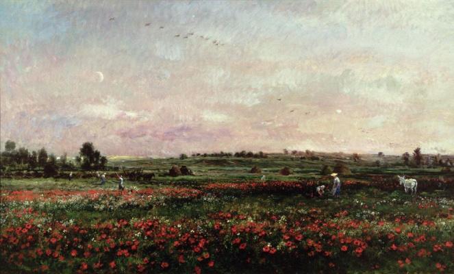 Charles-Francois Daubigny. Field in June