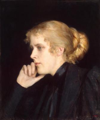 Albert Gustav Aristide Edelfelt. Portrait of M. V. Dyakovskaya-Geyrot. 1896