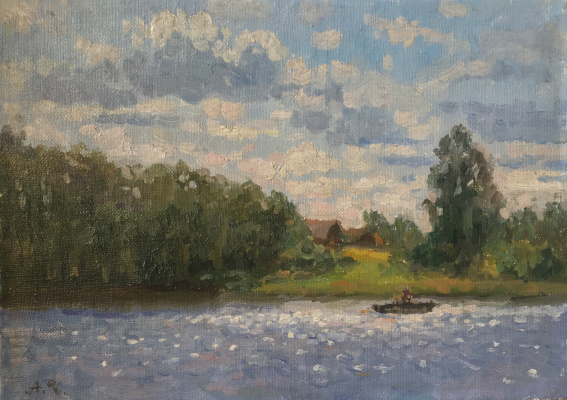 Aleksandr Chagadaev. On the lake