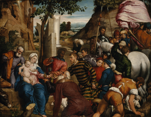 Jacopo da Ponte Bassano. The adoration of the Magi