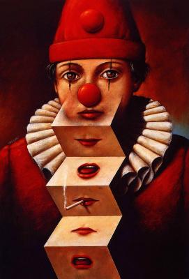 Rafal Olbinski. Clown