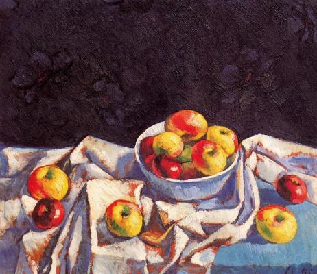 Мануел Дел Рио-Мануэль. Натюрморт с яблоками