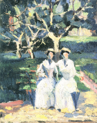 Казимир Северинович Малевич. Две женщины в саду
