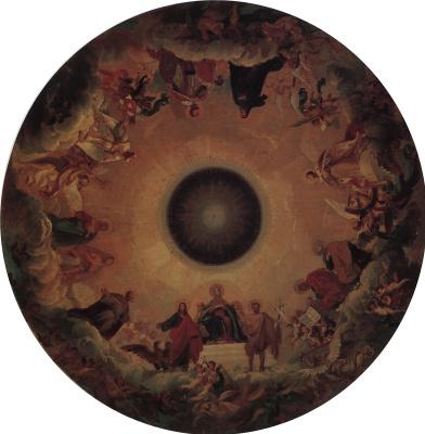 Богоматерь во славе в окружении святых. Первоначальная композиция плафона центрального купола Исаакиевского собора
