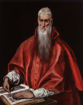 Domenico Theotokopoulos (El Greco). St. Jerome as Cardinal