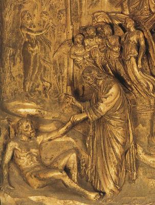 Лоренцо Гиберти. Создание Адама и Евы
