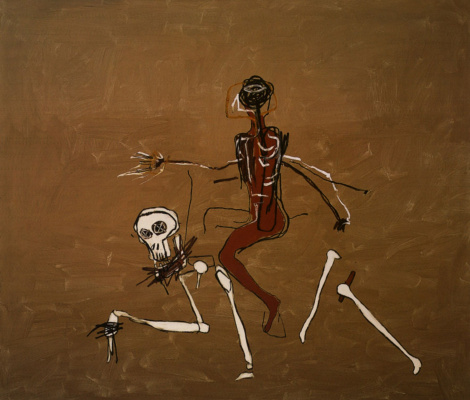 Jean-Michel Basquiat. Riding on death