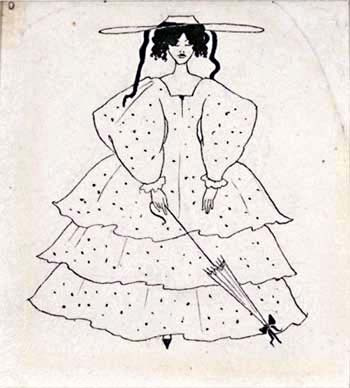 Aubrey Beardsley. Spotted dress