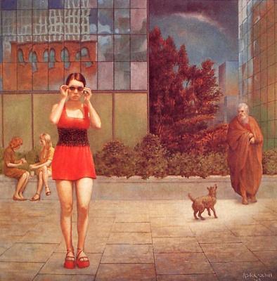 Ашер де Са. Девушка в красном платье