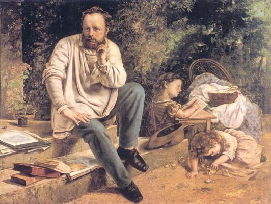 Gustave Courbet. Portrait Of Proudhon