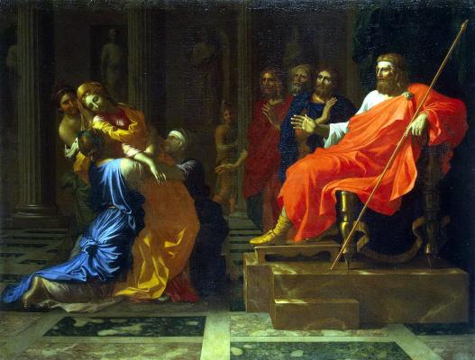 Nicola Poussin. Esther before Ahasuerus