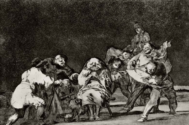 "Francisco Goya. A series of ""Disparates"", page 17: the Simplicity"