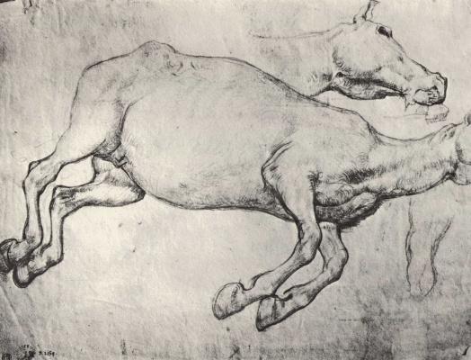 Théodore Géricault. Sketch of a dead horse