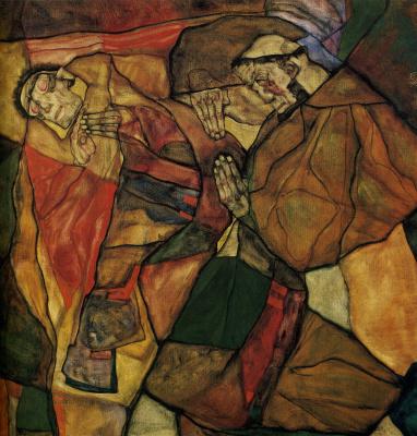 Egon Schiele. The agony