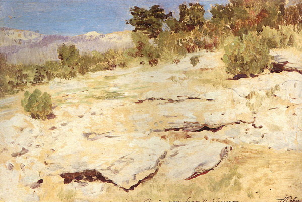 Isaac Levitan. In the Crimean mountains