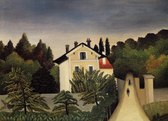 Henri Rousseau. House on the Outskirts of Paris