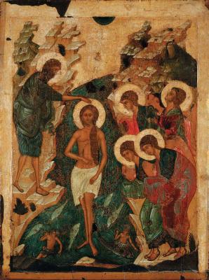 Московская школа. Крещение Иисуса Христа