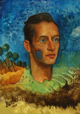 Давид Давидович Бурлюк. Портрет мужчины, возможно Павла Челищева