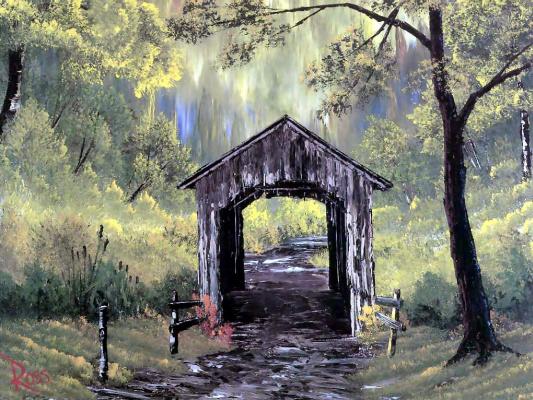 Bob Ross. Covered bridge
